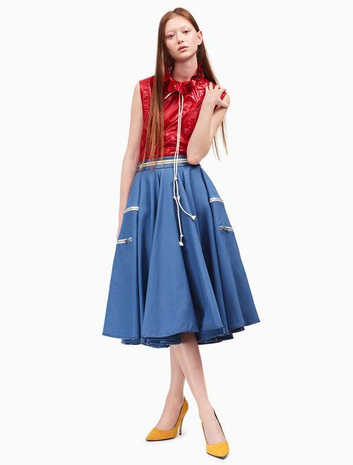 CALVIN KLEIN tent circle skirt
