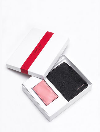 CALVIN KLEIN POUCH AND CARD CASE SET
