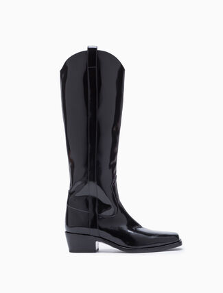 CALVIN KLEIN SQUARE TOED HIGH BOOTS