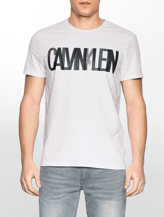 CALVIN KLEIN FASHION LOGO CREW NECK T-SHIRT