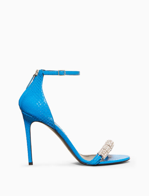 CALVIN KLEIN high-heeled sandal in python