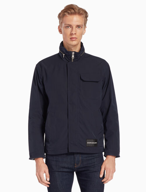 CALVIN KLEIN RETRACTABLE HOOD ZIP JACKET