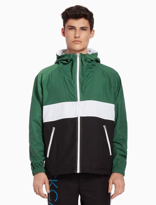 CALVIN KLEIN Color block nylon jacket