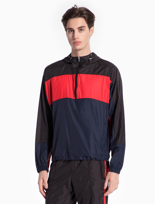 CALVIN KLEIN WOVEN COLOR BLOCK JACKET