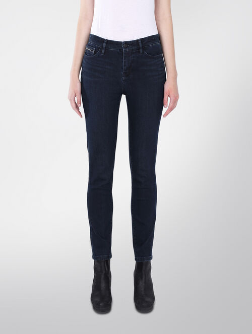 CALVIN KLEIN HIGH RISE SKINNY JEANS - LUXE DARK