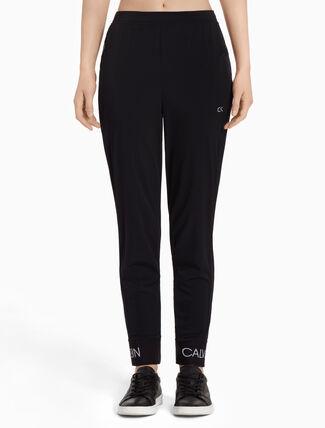 CALVIN KLEIN Sports Pants With Logo Cuffs