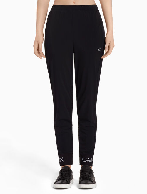 CALVIN KLEIN Sports Pants With Logo Cuffs