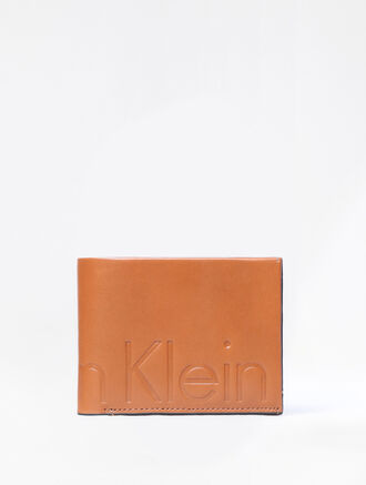 CALVIN KLEIN MAGNIFIED BILLFOLD WITH DETACHABLE CARD CASE