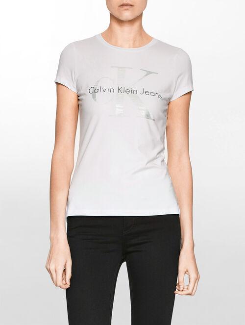 CALVIN KLEIN ロゴ ショートスリーブ トップ