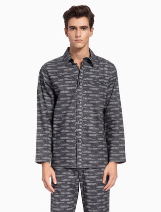 CALVIN KLEIN WOVEN BUTTON DOWN SHIRT