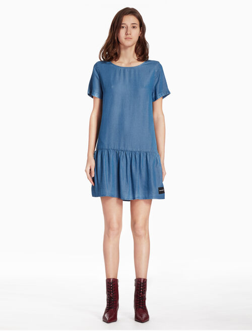 CALVIN KLEIN WOVEN DENIM DRESS