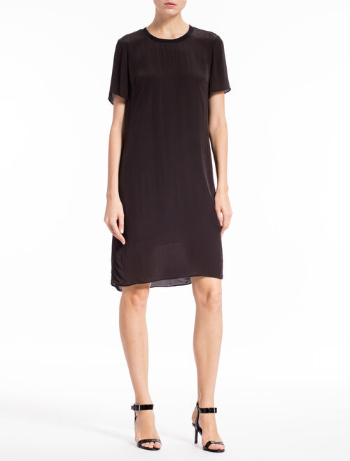 CALVIN KLEIN SHEER KNEE LENGTH DRESS