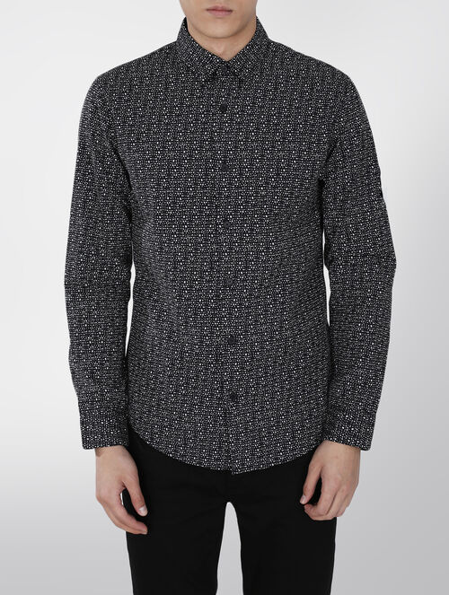 CALVIN KLEIN PRINTED COTTON SHIRT