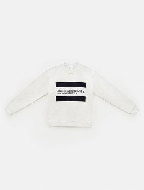 CALVIN KLEIN Est 1978 Patch Crewneck Sweatshirt
