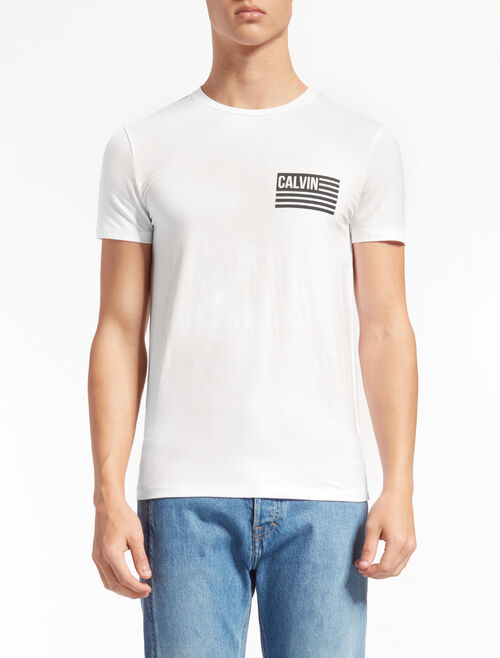 CALVIN KLEIN TAKEOS LOGO TEE IN SLIM FIT