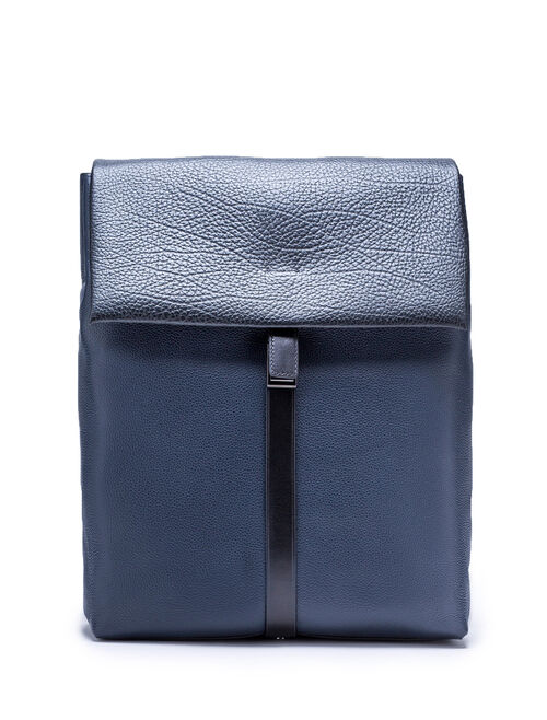 CALVIN KLEIN PEBBLE LEATHER SLATED BACKPACK