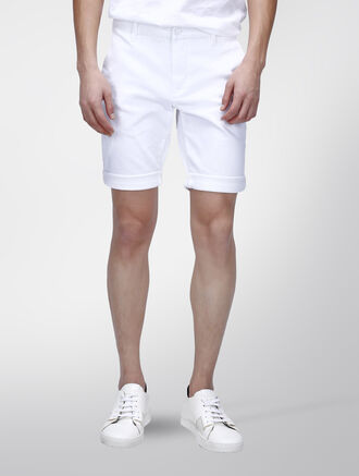 CALVIN KLEIN INFINITE WHITE STRAIGHT SHORTS