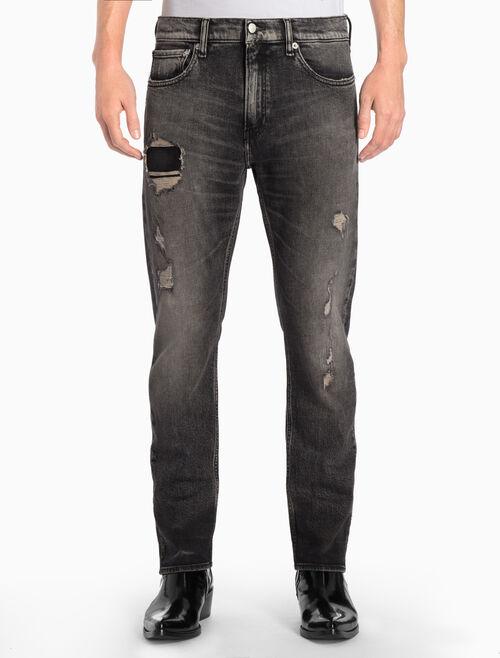 CALVIN KLEIN STALKER BLACK 貼身直筒牛仔褲
