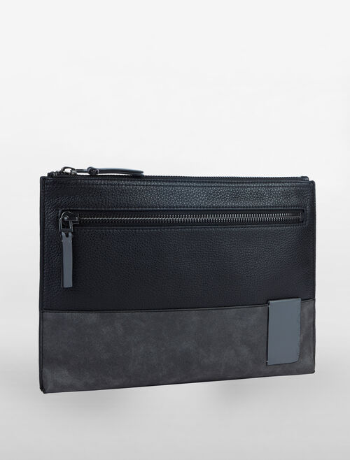 CALVIN KLEIN PEBBLE ESSENTIALS LARGE PORTFOLIO