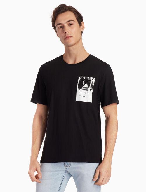 CALVIN KLEIN 로고 박스 그래픽 티셔츠