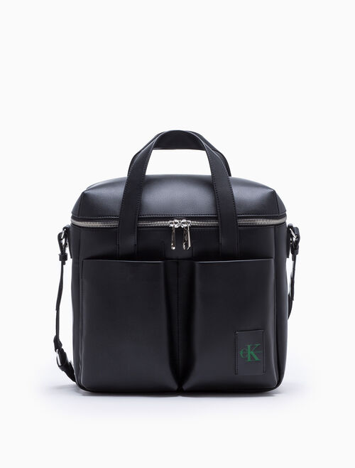 CALVIN KLEIN COATED CANVAS RECORD BAG