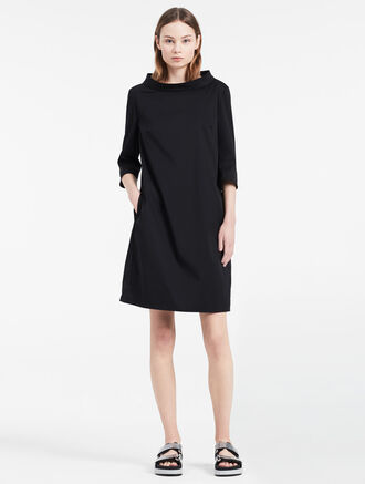 CALVIN KLEIN TWILL STRETCH 3/4 SLEEVE DRESS