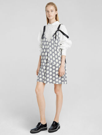 CALVIN KLEIN MACRO DOT SILK DRESS