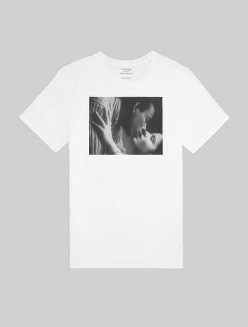 CALVIN KLEIN kiss 유니섹스 티셔츠