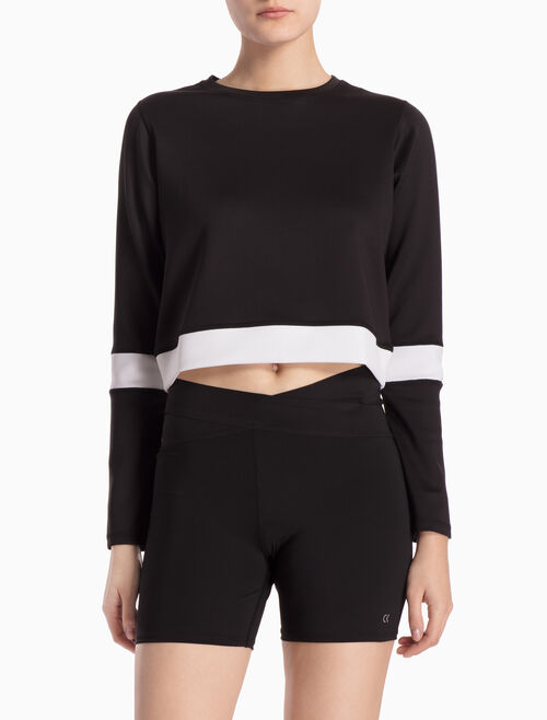 CALVIN KLEIN COLOR BLOCK PULLOVER SWEATSHIRT