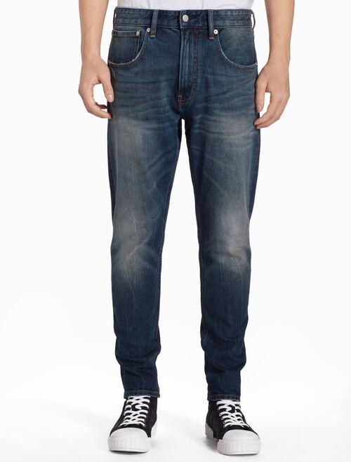 CALVIN KLEIN REEF BLUE MODERN 窄管牛仔褲