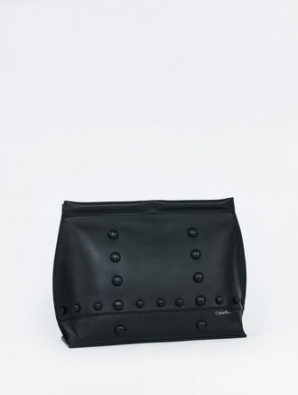 CALVIN KLEIN ZOE AVIATION RIVET METRO CLUTCH