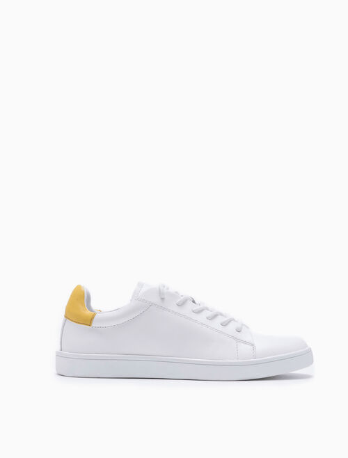 CALVIN KLEIN TWO-TONE LACE UP SNEAKERS