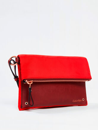 CALVIN KLEIN INDUSTRY CITY FOLD-OVER CROSSBODY