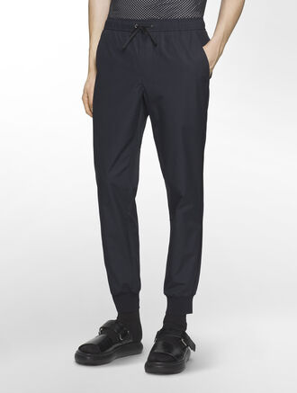 CALVIN KLEIN HEAVY POPLIN PANTS WITH SWEATER TRIM( PRESTON FIT )