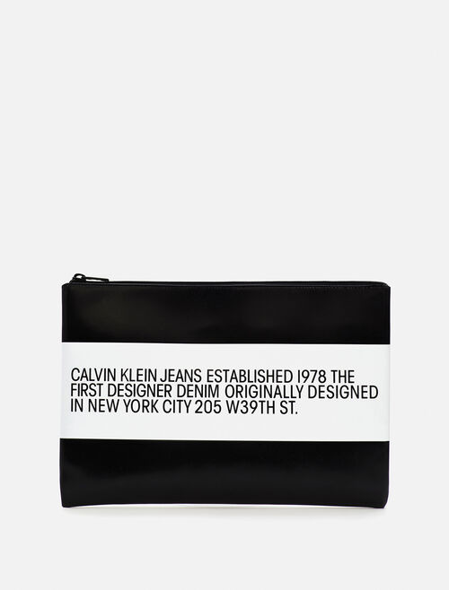 CALVIN KLEIN EST 1978 PATCH LEATHER POUCH