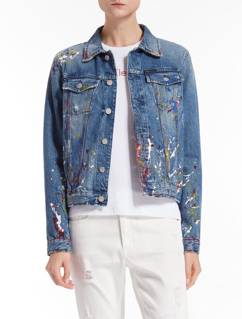 CALVIN KLEIN INDIGO DENIM TRUCKER JACKET