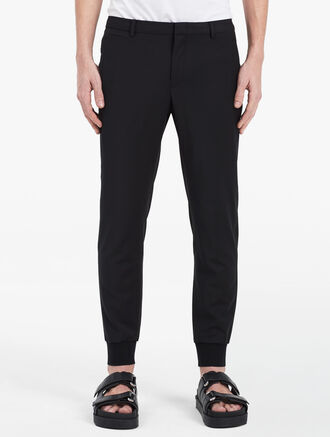 CALVIN KLEIN SHARKSKIN STRETCH PANTS