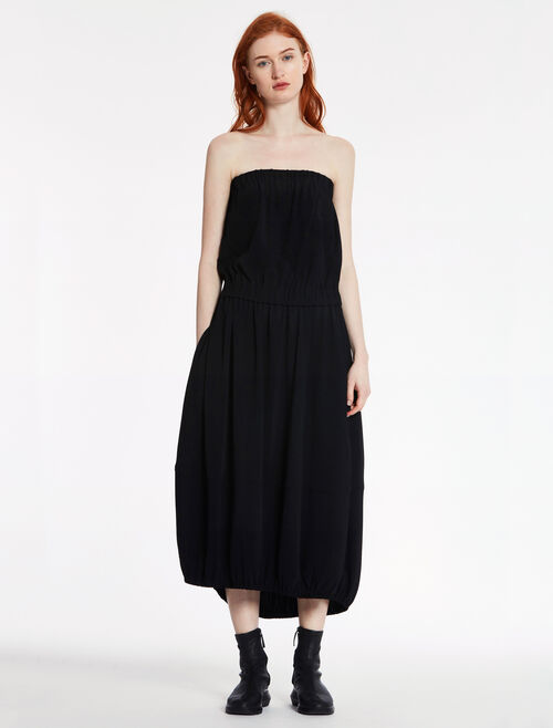 CALVIN KLEIN VISCOSE STRETCH STRAPLESS COCOON DRESS