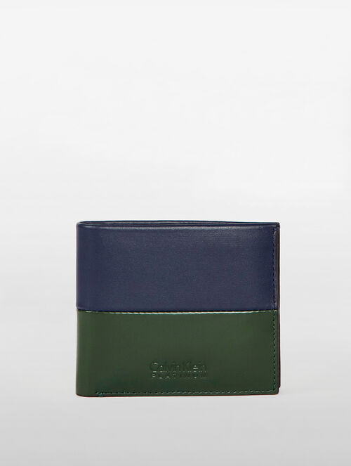 CALVIN KLEIN CLASSIC WALLETS TWO TONE BILLFOLD WITH COINCASE