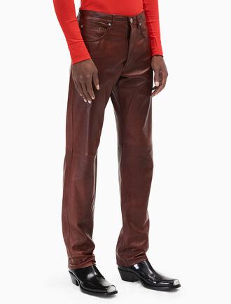 CALVIN KLEIN leather jeans