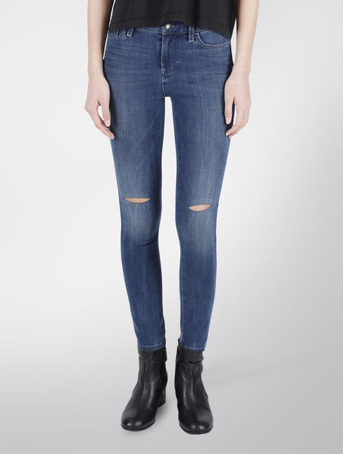 CALVIN KLEIN FREE RIP HIGH RISE SKINNY JEANS