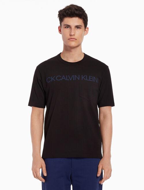 CALVIN KLEIN Logo print tee with chest pocket