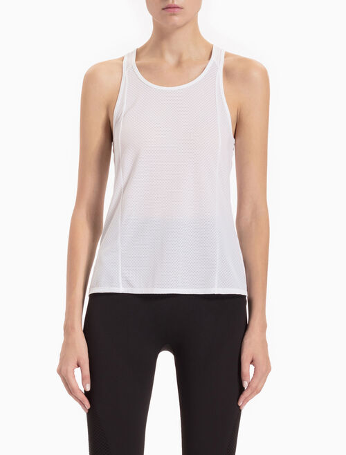 CALVIN KLEIN ALL-OVER MESH TANK TOP