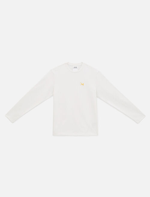 CALVIN KLEIN Icon Embroidered Crewneck Long Sleeve Shirt