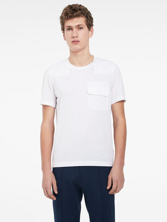 CALVIN KLEIN DOUBLE MERCERIZED POCKET T-SHIRT