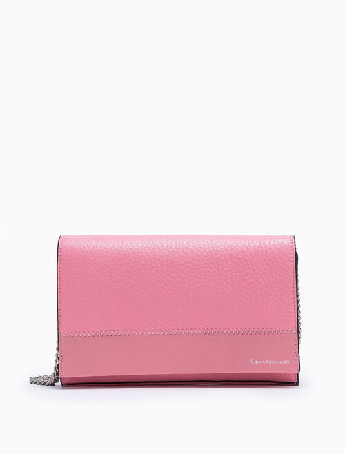 CALVIN KLEIN BICOLOR SOFT LARGE ACCORDION CROSSBODY BAG