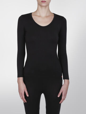 CALVIN KLEIN CALVIN KLEIN THRML LONG SLEEVE SCOOP NECK TOP