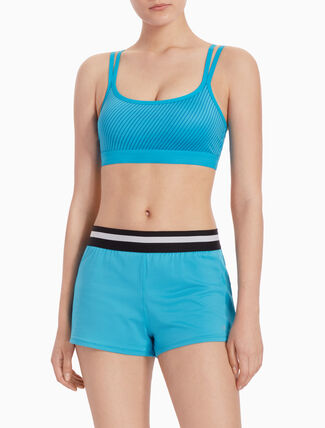 CALVIN KLEIN STRAPPY SPORTS BRA WITH REMOVEABLE PADS