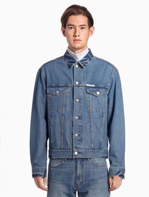 CALVIN KLEIN Lyon Blue 아이코닉 트럭커 재킷
