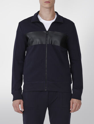 CALVIN KLEIN FRENCH TERRY ZIPFRONT SWEATSHIRT